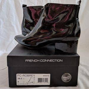 Black French Connection Robrey Booties - Sz 8